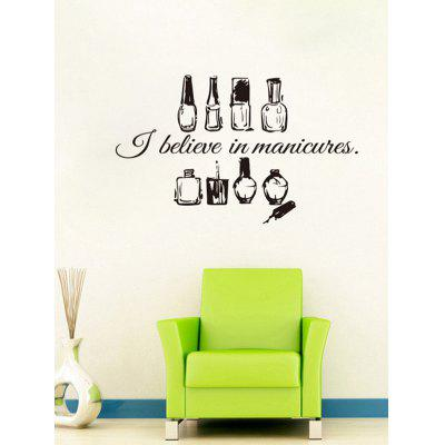 Manicure Nail Polish Print Wall Art Stickers