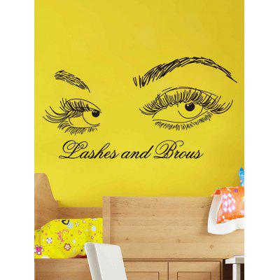 Lashes and Brows Print Wall Art Stickers