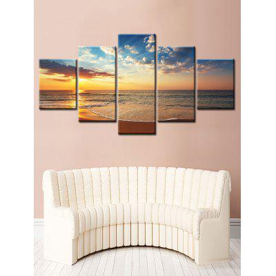 Sunset Sea Split Unframed Canvas Paintings