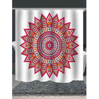 Mandala Print Shower Curtain