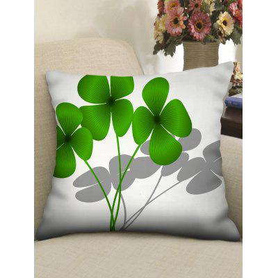 Easter Four-leave Print Throw Pillow Case