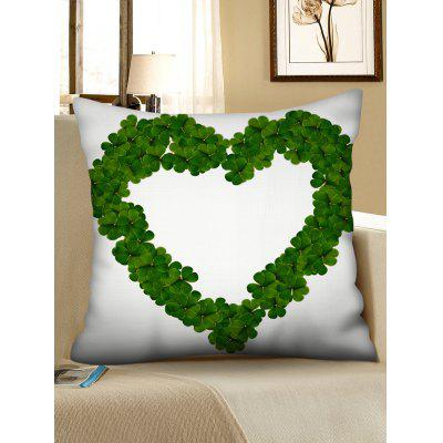 Easter Leaves Heart Print Throw Pillow Case