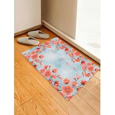 Flowers Pattern Water Absorption Area Rug