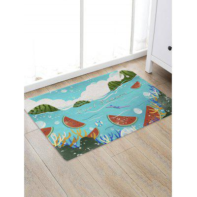 Watermelon Sea Pattern Water Absorption Area Rug
