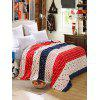 Patterned Soft Fluffy Warm Blanket - MULTI-B