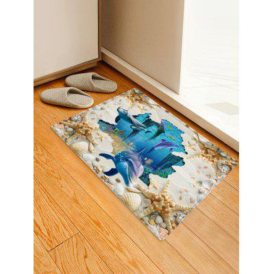 Dolphin Starfish Pattern Floor Rug