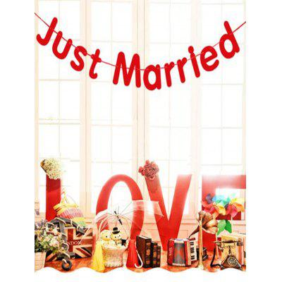 1 PC Wedding Decoration Just Married Pattern Party Banner