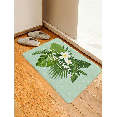 Summer Flower Leaf Pattern Floor Rug