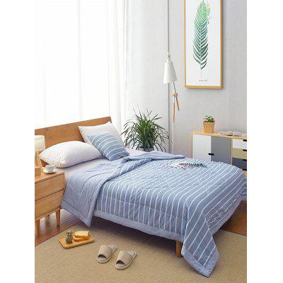Stripe Printed Soft Bed Quilt