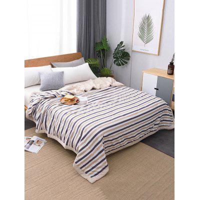 Striped Print Soft Bed Quilt
