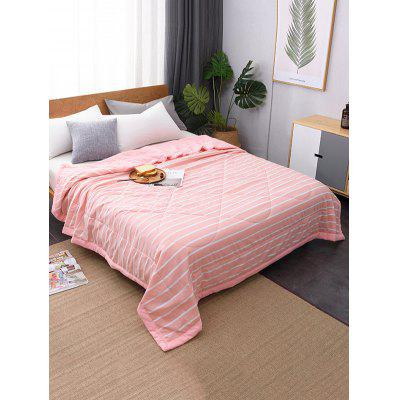 Stripes Printed Soft Bed Quilt