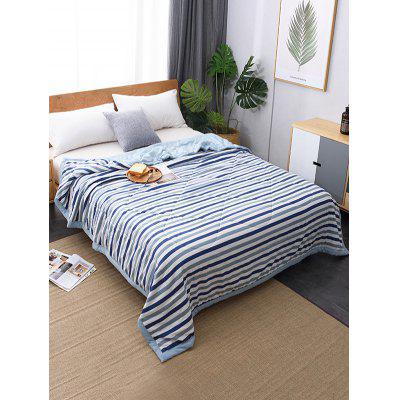 Striped Printed Soft Bed Quilt