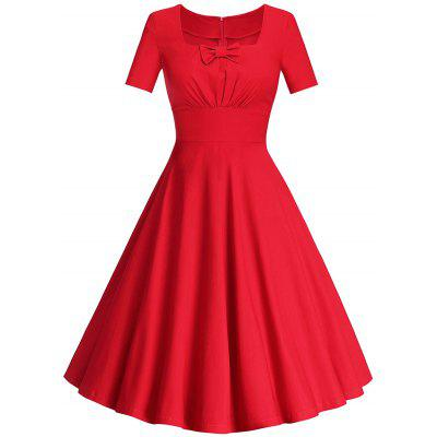 A Line Square Collar Dress