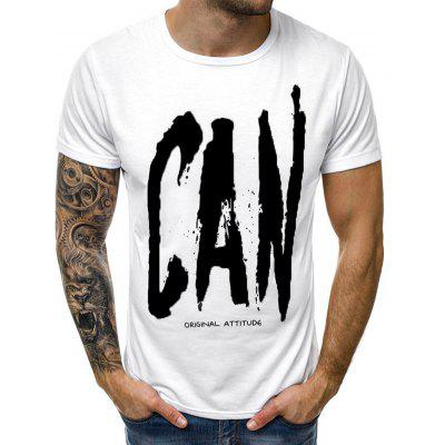Letter Print Casual Short Sleeves T-shirt