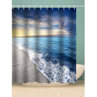 Shower Beach Scenery Print Shower Curtain