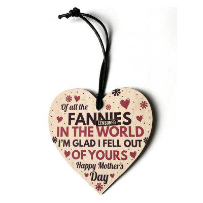 Engraved Flower Mother Day Wooden Hanging Decoration