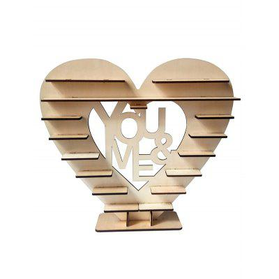 You and Me Wood Wedding Chocolate Shelf Decoration