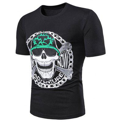 Skull Print Short Sleeve T Shirt