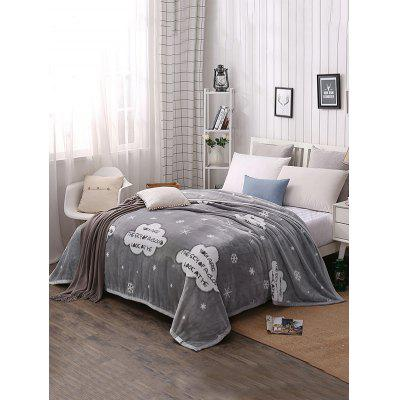 Snowflake Pattern Soft Nap Warm Blanket