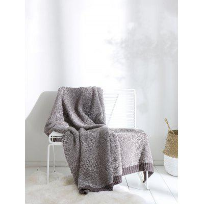Color Block Knitted Blanket