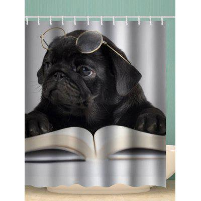 Reading Puppy Waterproof Shower Curtain