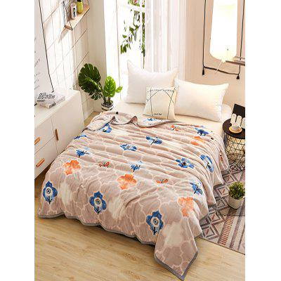 Flowers and Butterfly Pattern Soft Warm Blanket
