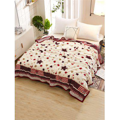 Stars and Crescent Pattern Soft Warm Blanket