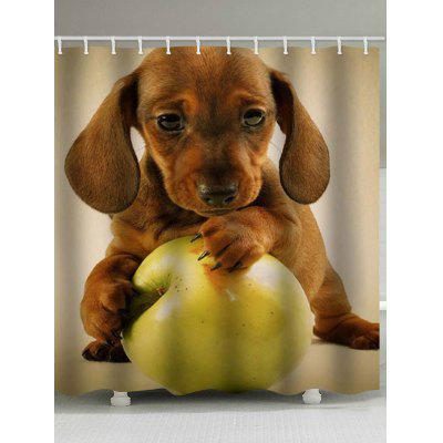 3D Puppy Printed Waterproof Shower Curtain