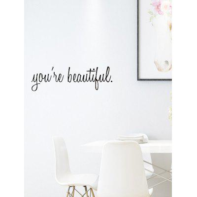 You Are Beautiful Pattern Wall Stickers