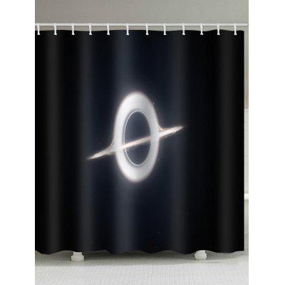 Abstract Collapsar Printed Waterproof Bathroom Shower Curtain