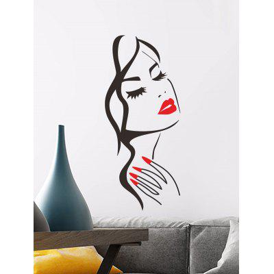 Beautiful Girl Print Removable Wall Art Stickers