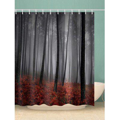 Mist Forest Print Waterproof Bathroom Shower Curtain