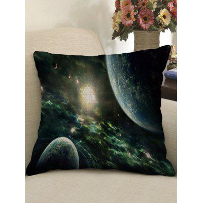Universe Planet Printed Square Pillowcase