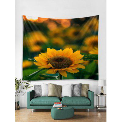 3D Sunflower Art Decoration Wall Tapestry