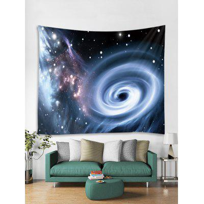 Decoración de pared Galaxy con agujero negro con estampado de remolinos