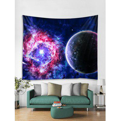 Black Hole Planet Print Wall Decor Tapestry