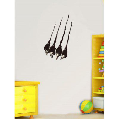 Claw Mark Print Removable Wall Art Stickers