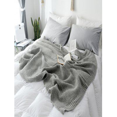 Solid Color Design Knitted Blanket
