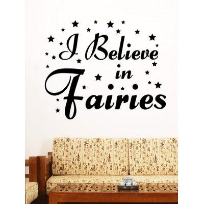 Letter Design Wall Sticker