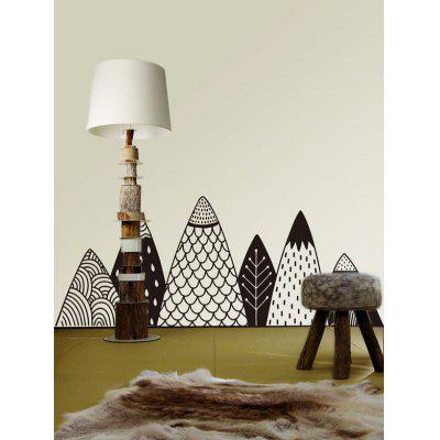 Cartoon Mountains Print Removable Wall Art Stickers