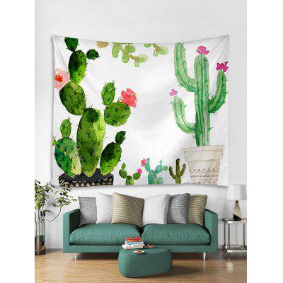 Cactus Pot Print Wall Tapestry