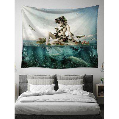 Ocean Beauty Print Tapestry Wall Hanging Art Decoration