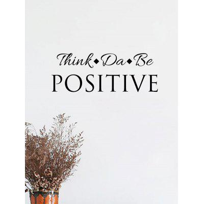 Think Positive Pattern Wall Stickers