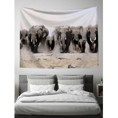 Elephant Groups Print Wall Tapestry
