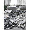 Snowflake Jacquard Knitted Blanket - MIDNIGHT BLUE