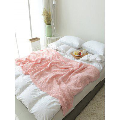 Solid Color Jacquard Knitted Blanket