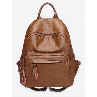 Retro Leather Soft Backpack