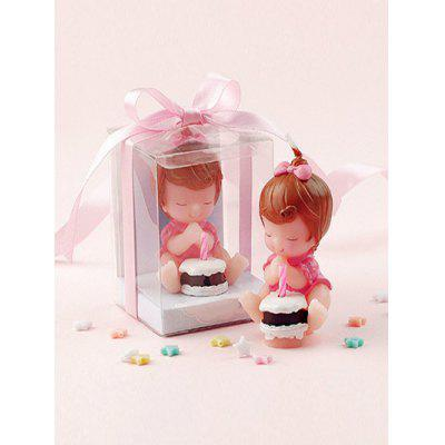 Cartoon Baby Girl Cake Shape Candle