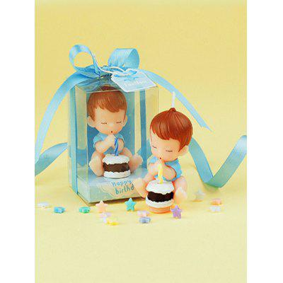 Candela di forma di torta Baby Boy Cartoon