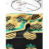 Pineapple Contrast Jacquard Knitted Blanket - BLACK